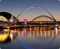 Tyne Bridge and Millennium Bridge Newcastle
