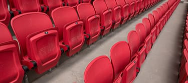 red stadium chairs