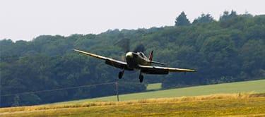 Spitfire taking off