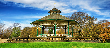 bandstand in greenhead park