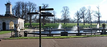 hyde park with signpost