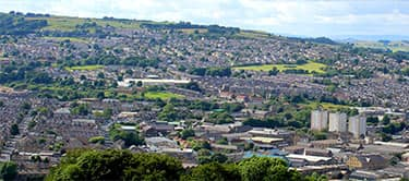 views of suburbs in keighley