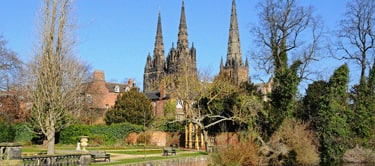Lichfield Cathedral and Remembrance Gardens