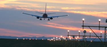 Newcastle Airport at sunset
