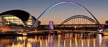 Tyne Bridge and Millennium Bridge, Newcastle