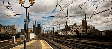 Newcastle station platform