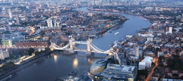 Aerial view of River Thames, London