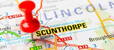 Scunthorpe on a map