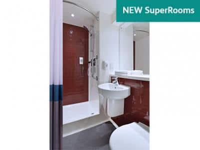 New SuperRoom Red Bathroom