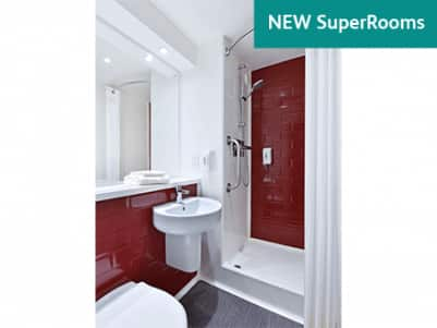 New SuperRoom Red Bathroom