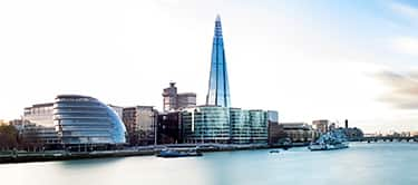 view of the shard and city of london