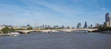 Waterloo Bridge skyline