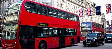 london bus, west end