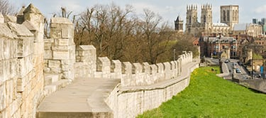 York City Wall and York Minster